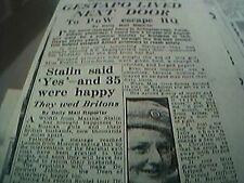 ephemera article 1945 evelyn gore symes frees r h barratt of leicester