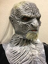 WHITE Ice Zombie Halloween Horror Lattice Maschera Costume GIOCO Maschere Costume