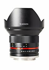Rokinon RK12M-M 12mm F2.0 NCS CS Ultra Wide Angle Fixed Lens Canon EF-M Mount