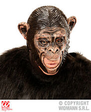 Chimpanzee 3/4 Open Mouth Mask for Animal Ape Monkey Fancy Dress Accessory