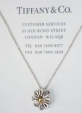 Tiffany & Co 18Ct 18k Gold & Silver Palomo Picasso Daisy Flower Necklace