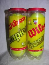 Wilson Tennis Balls in a Can, Set of 2 Cans, 6 Balls, New Extra Duty Sport