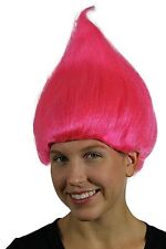 Pink Adult Troll Wig Gnome Clown Costume Team Doll Hot Womens Dr. Seuss 90's New