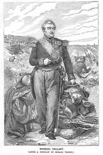 Marshal Vaillant Major General of the French Army in Italy - Antique Print 1859
