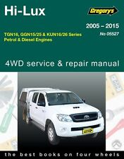 Gregory's Service Repair Manual Toyota Hi-Lux 2WD 4WD 2005-2015 OWNERS WORKSHOP