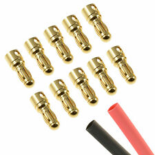 10 x RC 3.5mm Male Gold Bullet Connector + Heat Shrink Lipo Battery ESC Motor