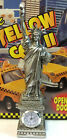 """LARGE 10"""" Silver Statue of Liberty Figurine with Clock and Base NYC Souvenir NEW"""