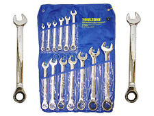 13 Piece Large 8-32MM Ratchet Spanner (Open C/Ring Head) End Metric Ratchting