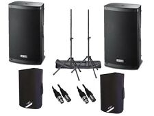 "2 x FBT Xlite 15A Active 2000W 15"" Powered Speaker DJ Disco PA Sound System"