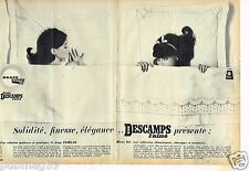 Publicité advertising 1964 (2 pages) Les Draps Descamps L'Ainé