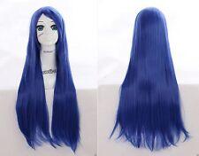 W-04-BC44 blu 80cm resistente al carole Wig Perrucca Parrucca Anime Manga