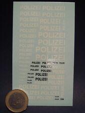 DECALS 1/43 POLICE ALLEMANDE POLIZEI  - T336