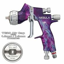 DeVilbiss GTi ProLite NEBULA TE20 Cap Lacquer/Gloss Spray Gun 1.2/1.3mm Tip