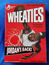 WHEATIES 1995 JORDAN'S BACK CHICAGO BULLS CEREAL BOX FULL