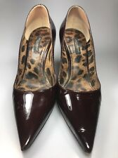 dolce gabbana bellucci Brown patent leather Heels Pumps Leopard Print Insole 7