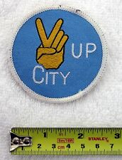 MANCHESTER CITY - 1970s Retro Sew-on Woven Cloth Patch