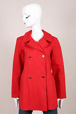 "Louis Vuitton Red Cotton Double Breasted ""Mackintosh"" Short Trench Coat SZ 40"