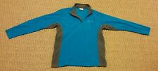 Columbia Sportswear mens teal and gray fleece 1/4 zip pullover shirt size Medium