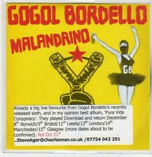 (EP781) Gogol Bordello, Malandrino - DJ CD