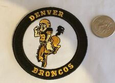 "DENVER BRONCOS VINTAGE EMBROIDERED IRON ON PATCH  3""x3"" AWESOME!!"