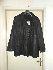 Coat Cappotto Montgomery In Pelle/Leather Con Cappuccio  Size XL Made In Italy