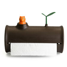 Qualy Log & Roll Paper Towel Holder Squirrel & Leaf Replacement Notification