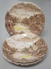 JOHNSON BROTHERS china OLDE ENGLISH COUNTRYSIDE-MULTICOLOR Set of Four Saucers