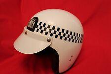 OBSOLETE METROPOLITAN POLICE MOTORBIKE HELMUT BY EVEROAK