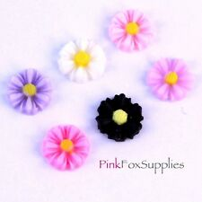 14 MINI FLOWER FLATBACK CABOCHON CHARM JEWELLERY MAKING CRAFT HOBBY KITSCH NAIL