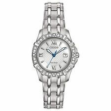 Citizen Eco-Drive Women's EW2360-51A Diamond Silver Tone Dress Watch
