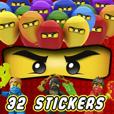 32 x Lego Ninjago Eyes Stickers for Balloons Bags Cones Bags Party Decorations
