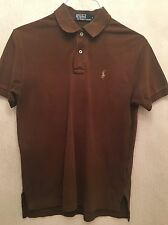 MEN'S SIZE SMALL POLO BY RALPH LAUREN BROWN POLO TOP SPORT/GOLF/FOOTBALL RRP £85