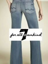 NWOT 7 For All Mankind Jeans - Size 25 Ginger Wide Flare Leg - Blue Gray Wash