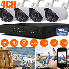 4CH HDMI 960H DVR 700TVL IR Cut 24IR Leds 3.6mm CCTV Camera Outdoor Security Kit