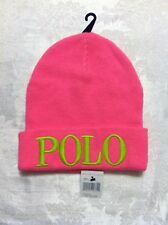 POLO RALPH LAUREN MENS/WOMENS NEW PINK BEANIE HAT ONE SIZE