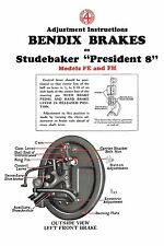1930 Studebaker President Model FE and FH Brake Adjustment and Trouble Finder