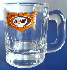 A&W Root Beer Mini miniature Glass Mug with USA Map
