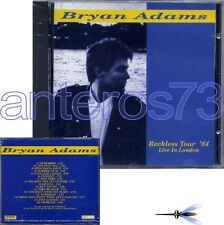 "BRYAN ADAMS ""RECKLESS TOUR '84"" RARE CD MADE IN ITALY - SEALED"