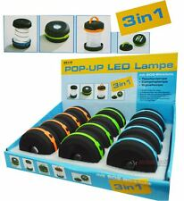 New Compact LED 3 in 1 Pop Up Lamp and SOS Flashing Light Camping Signal LED