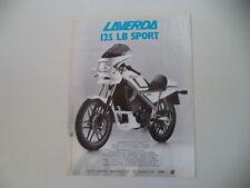 advertising Pubblicità 1984 MOTO LAVERDA 125 LB SPORT