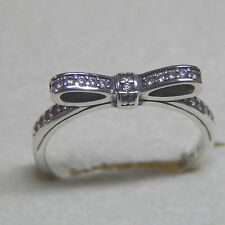 Authentic Pandora 190906CZ Sparkling Bow Ring Size 58 (8.5) Box Included