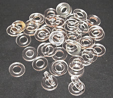 50 Tattoo Machine 3/8 I.D. Clear Acrylic Coil Core Washers Parts Binder Made USA