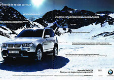 PUBLICITE ADVERTISING 124  2006  BMW   X3  ( 2pages)