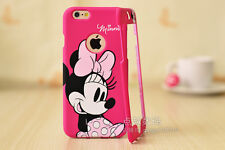 Pink Cartoon Disney Mickey minnie mouse Front&back case cover For iPhone 6 Plus