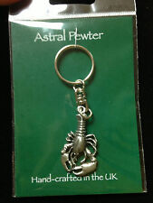 KEYRING ASTRAL PEWTER LOBSTER FISH KEYCHAIN HAND CRAFTED UK FINISH NEW
