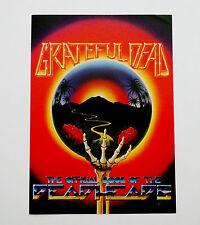 Grateful Dead 1983 Handbill The Official Book of the Deadheads Art Flyer Poster