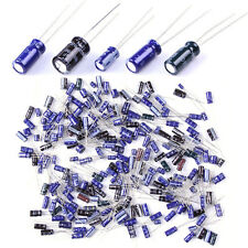 Lot 120 Pcs 25 Value 0.1uF~220uF Electrolytic Capacitors Assortment Kit Set New