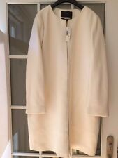 J Crew Double Cloth Collarless Coat Antique White NWT Size 16