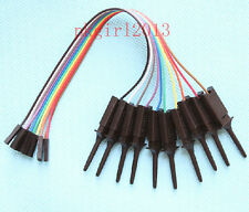 10pcs Test Hook Clips for Logic Analyser SMT TEST IC + 10pcs dupont cable