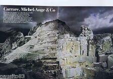 COUPURE DE PRESSE CLIPPING 1979 GEO : Marbre de Carrare, Michel-Ange (24 pages)